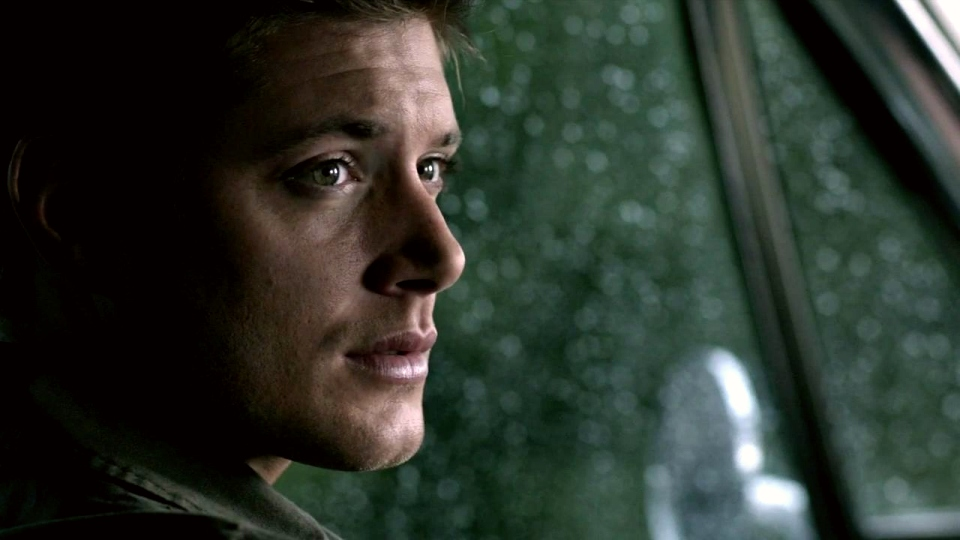 Rain-speckled Impala...and Dean