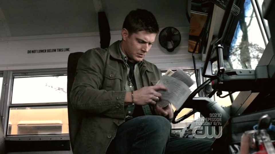 Scenes we thought we'd never see...Dean on a school bus